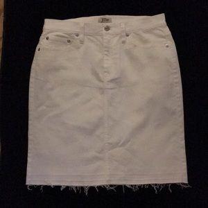 J. Crew White Denim Skirt, 28, NWT